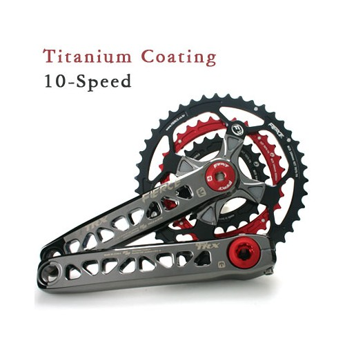 TRX 10단 티탄 코팅 크랭크 셋 |  TRX 10-speed Titanium Coating Crank Set